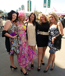 LIVERPOOL, ENGLAND - Thursday, April 8, 2010: Racegoers from Southport during the opening day of the Grand National Festival at Aintree Racecourse. (Pic by David Rawcliffe/Propaganda)