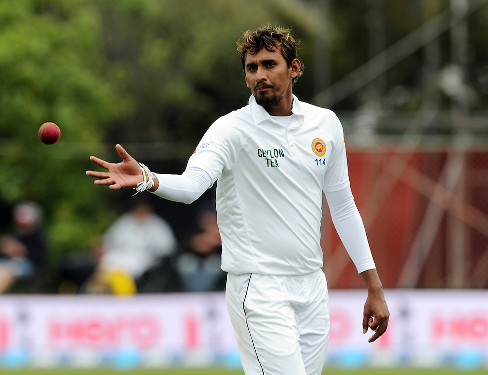 Sri Lanka's Suranga Lakmal prepares to bowl against New Zealand on day three of the first International Cricket Test, University Cricket Oval, Dunedin, New Zealand, Saturday, December 12, 2015.Credit:SNPA / Ross Setford