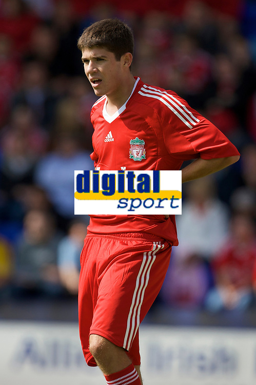 BIRKENHEAD, ENGLAND - Saturday, July 12, 2008: Liverpool's Ryan Flynn during his side's first pre-season match of the 2008/2009 season against Tranmere Rovers at Prenton Park. (Photo by David Rawcliffe/Propaganda)