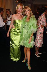 Left to right, actress JENNY McSHANE and JULIA VERDIN at a party to celebrate 'Made in Italy at Harrods' - a celebration of Italian fashion food and wine, design and interiors, art and photography, cinema and music, beauty and glamour.  The party was held in the Georgian Restaurant at Harrods, Knightsbridge, London on 9th September 2004.<br /><br />PICTURES LICENCED UNTIL 9/3/2004 FOR USE TO PROMOTE THE 'MADE IN ITALY' EVENT/S ONLY.