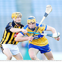 13 Septermber 2009; John Conlon, Clare, in action against Liam Ryan, Kilkenny. Bord Gais Energy GAA All-Ireland U21 Hurling Championship Final, Clare v Kilkenny, Croke Park, Dublin. Picture credit: Stephen McCarthy / SPORTSFILE