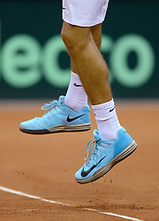 12-09-2014 NED: Davis Cup Nederland - Kroatie, Amsterdam<br /> Nike Tennis schoenen serve service, item Tennis