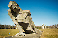 Statue at Salalspils Memorial