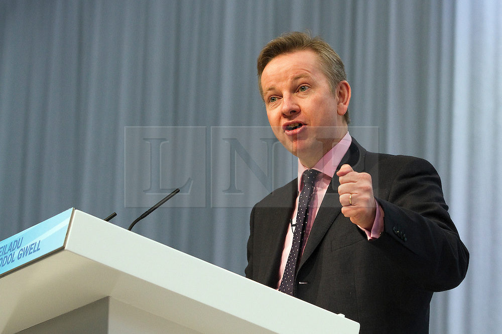 "© under license to London News Pictures. 06/03/2011: Michael Gove addresses the audience at the Conservative Party's Spring Forum in Cardiff. Credit should read ""Joel Goodman/London News Pictures""."