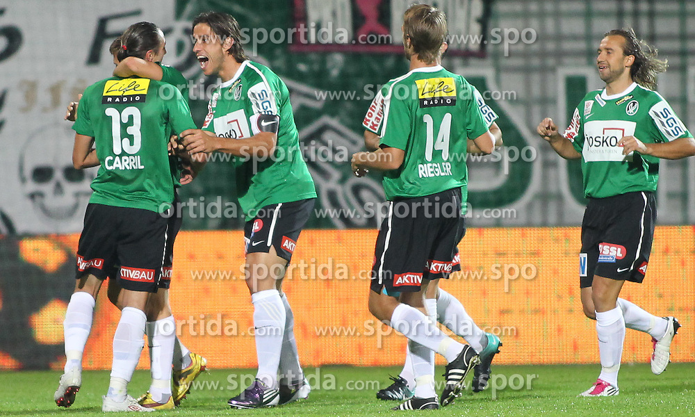 22.09.2010, Keine Sorgen Arena, Ried im Innkreis, AUT, 1.FBL, SV Josko Fenster Ried vs SK Rapid Wien, im Bild Torjubel SV Ried, EXPA Pictures © 2010, PhotoCredit: EXPA/ R. Hackl, EXPA Pictures © 2010, PhotoCredit: EXPA/ R. Hackl / SPORTIDA PHOTO AGENCY
