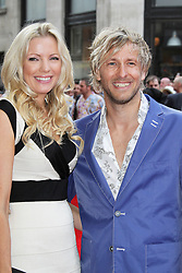 © Licensed to London News Pictures. 01/07/2013. London, UK. Rachel Gretton and Rick Parfitt Jnr, at the Bula Quo UK film premiere, Odeon West End cinema Leicester Square, London. Photo credit: Richard Goldschmidt/LNP