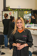 Wheatley High School student Ana Lopez poses for a photograph in a cosmotology class at the Barbara Jordan High School for Careers, November 21, 2016.