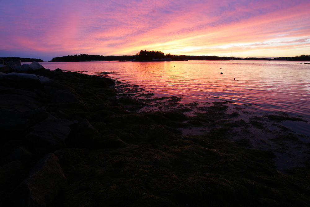 Vinalhaven, Maine 2007: .Penobscot Bay sunset