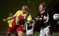 Photo: Marc Atkins.<br /><br />Watford v Hull City. Carling Cup. 24/10/2006.<br /><br />Gavin Mahon of Watford (L) challenges Nick Barmby of Hull City (R).