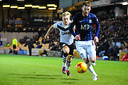AJ Leitch-Smith and Cian Bolger of Southend United during the Sky Bet League 1 match between Port Vale and Southend United at Vale Park, Burslem, England on 26 February 2016. Photo by Mike Sheridan.
