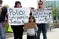 """Around thirty determined people attended a peace rally at Hartnell College on Monday, then marched to the Salinas Police Department carrying signs and chanting. The rally, called #Baltimore2California, was organized to show unity with citizens of Baltimore protesting the death in police custody of Freddie Gray. <br /> <br /> According to a poster disseminated on Twitter, the group's aim is to """"march in solidarity with black people of color who face state-sponsored violence in Baltimore. Join us in addressing that has been experienced by people of color throughout the state."""" <br /> <br /> Named on the group's Twitter poster are Angel Ruiz, Osman Hernandez, Carlos Mejia-Gomez, Frank Alvarado, Jr. and Jaime Garcia, who died in Salinas under controversial circumstances.<br /> <br /> """"I'm here today to stand with the people of Baltimore who rose up after the vicious murder of Freddie Gray. I'm here because their struggles mirror our struggles. Unemployment, gangs and racist cops are all used to keep us in our place. But today, we say no more, no more police brutality, no more violence without accountability. Power belongs to the people, and today we're taking our power back,"""" said Miranda Mossey, a Salinas resident and Hartnell student."""
