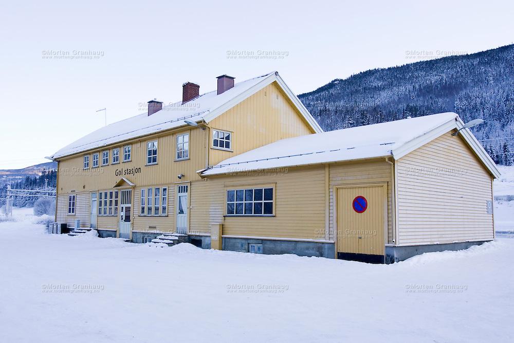 Gol stasjon..Temperatur: 23 kuldegrader.