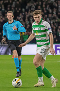 James Forrest (#49) of Celtic during the Europa League match between Celtic and Rennes at Celtic Park, Glasgow, Scotland on 28 November 2019.