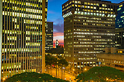 Twilight, Downtown, Honolulu, Oahu, Hawaii