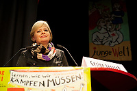 08 JAN 2011, BERLIN/GERMANY:<br /> Gesine Loetzsch, Die Linke Parteivorsitzende, haelt eine Rede, 16. Internationale Rosa-Luxenburg-Konferenz, Urania Haus<br /> IMAGE: 20110108-01-027<br /> KEYWORDS: Kommunismus, Gesine Lötzsch