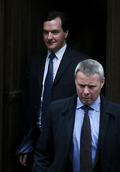 © Licensed to London News Pictures. 11/06/2012. London,Britain.Chancellor George Osborne leaves  the Leveson Inquiry in the Royal Courts of Justice. Photo credit : Thomas Campean/LNP..