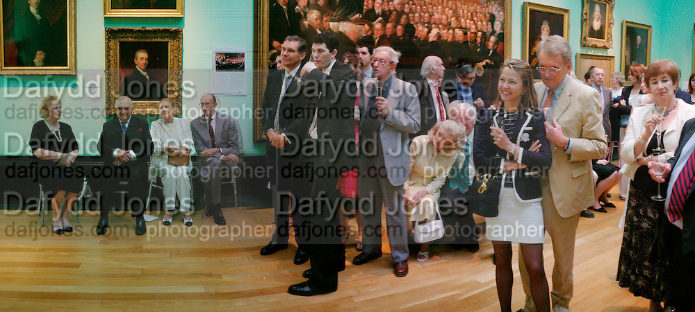 Lady Antonia Pinter, Lord Weidenfeld, David Metcalfe, Lady Meyer and Sir Christopher Meyer. Celebration of Lord Weidenfeld's 60 Years in Publishing hosted by Orion. the Weldon Galleries. National Portrait Gallery. London. 29 June 2005. ONE TIME USE ONLY - DO NOT ARCHIVE  ? Copyright Photograph by Dafydd Jones 66 Stockwell Park Rd. London SW9 0DA Tel 020 7733 0108 www.dafjones.com