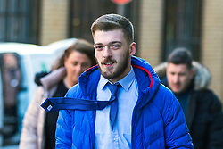 """© Licensed to London News Pictures. 02/02/2018. Liverpool UK. Tom Evans, father of Alfie Evans arrives at Liverpool Civil & Family Court this morning. Tom Evans and Kate James from Liverpool are in dispute with medics looking after their son 19-month-old son Alfie Evans, at Alder Hey Children's Hospital in Liverpool. Alfie is in a """"semi-vegetative state"""" and had a degenerative neurological condition doctors have not definitively diagnosed. Specialists at Alder Hey say continuing life-support treatment is not in Alfie's best interests but the boy's parents want permission to fly their son to a hospital in Rome for possible diagnosis and treatment. Photo credit: Andrew McCaren/London News Pictures"""