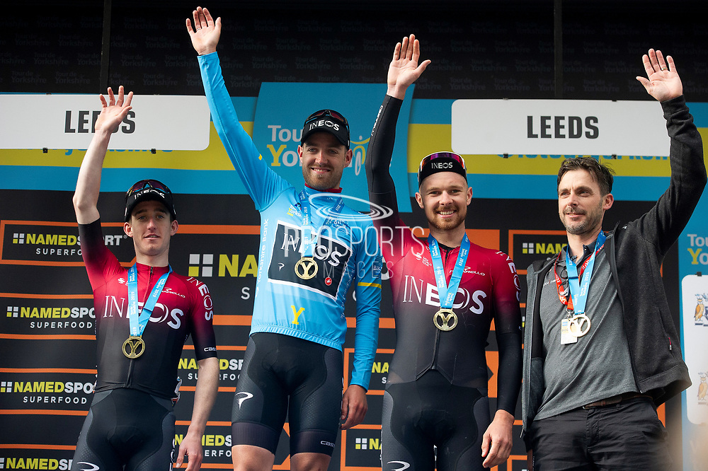 Team ineos take best team on stage Edward Dunbar - Chris Lawless & Owain Doull during stage four of the Tour de Yorkshire from Halifax to Leeds, , United Kingdom on 4 May 2019.