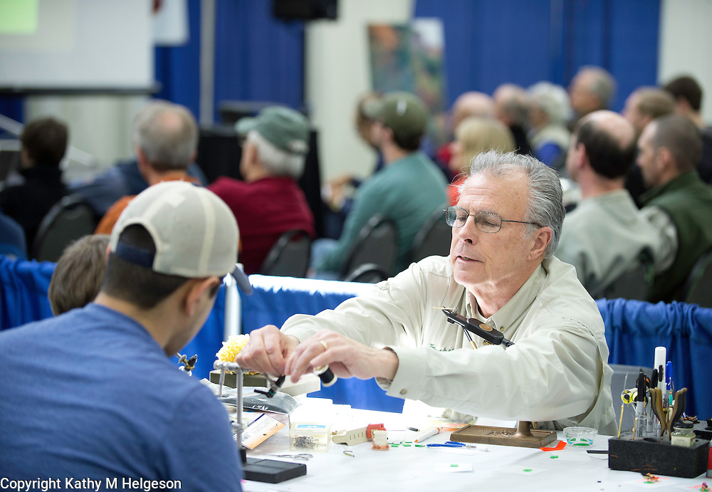 Tom Helgeson's Greaw Waters Fly Fishing Expo 2013 .photos by Kathy M Helgeson