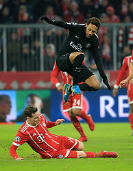 MUNICH, Dec. 6, 2017  Neymar of Paris Saint-Germain competes with Sebastian Rudy of Bayern Munich during a UEFA Champions League group B match between Bayern Munich and Paris Saint-Germain in Munich, Germany, Dec. 5, 2017. Bayern won 3-1. (Credit Image: © Philippe Ruiz/Xinhua via ZUMA Wire)