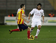 Lecce (LE), 16-01-2011 ITALY - Italian Soccer Championship Day 20 -  Lecce - Milan..Pictured: Gattuso (M) - Mesbah (L)..Photo by Giovanni Marino/OTNPhotos . Obligatory Credit