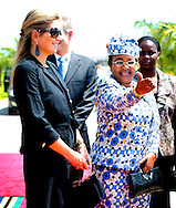 11-12-2013 - 0-12-2013 - TANZANIA DAR ES SALAAM  Queen Maxima of the Netherlands during the arrival at DAR ES SALAAM airport the queen meets First Lady, Mama Salma Kikwete.<br />  Her Majesty Queen M&aacute;xima United Nations Secretary-Geneneral&rsquo;s Special Advocate for Inclusive Finance for Development will visit 5 days ethiopia and tanzania. Her Majesty Queen M&aacute;xima visits in her capacity as a special advocate of the Secretary-General of the United Nations in the field of inclusive finance for development (inclusive finance for development) Ethiopia and Tanzania from Monday 9 to Friday, December 13, 2013. COPYRIGHT ROBIN UTRECHT