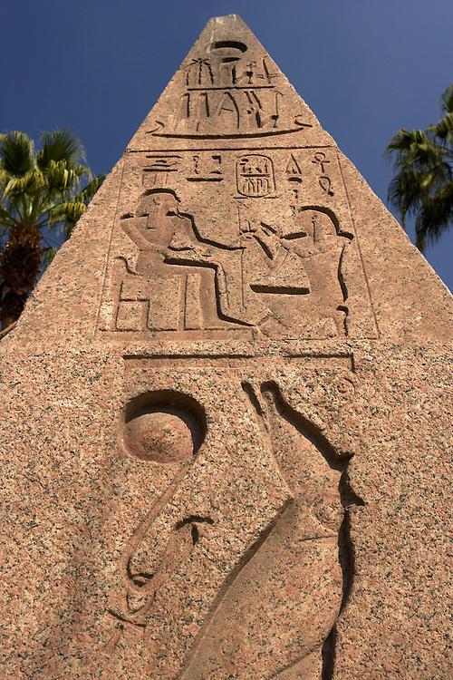 Obelisk at the Egyptian Museum, Cairo, Egypt