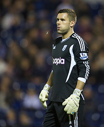 26.09.2012, The Hawthorns, West Bromwich, ENG, Capital One Cup, West Bromwich Albion vs FC Liverpool, im Bild West Bromwich Albion's goalkeeper Ben Foster looks dejected as his mistake gifts Liverpool an equalising first goal during the 3rd Round Match of Capital One Cup between West Bromwich Albion vs Liverpool FC at the Hawthorns, West Bromwich, United Kingdom on 2012/09/26. EXPA Pictures © 2012, PhotoCredit: EXPA/ Propagandaphoto/ David Rawcliff..***** ATTENTION - OUT OF ENG, GBR, UK *****
