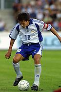 15.08.2001 Finnair Stadium, Helsinki, Finland. Friendly match Finland v Belgium. Jari Litmanen (FIN)..©JUHA TAMMINEN