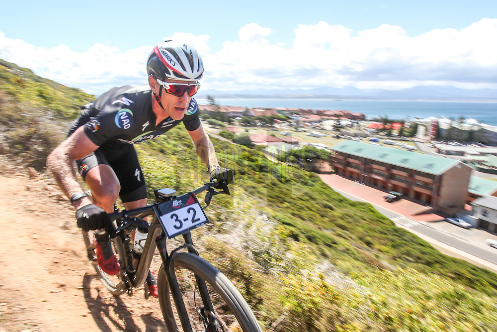 Gawie Combrinck raced to third on the prologue of the Cape Pioneer Trek, alongside his NAD Pro MTB teammate Nico Bell, on 16 October 2016.<br /> <br /> <br /> Photo by: Oakpics/ Cape Pioneer Trek / SPORTZPICS<br /> <br /> <br /> {dem16gst}