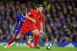 LONDON, ENGLAND - Friday, September 16, 2016: Liverpool's Adam Lallana in action against Chelsea during the FA Premier League match at Stamford Bridge. (Pic by David Rawcliffe/Propaganda)