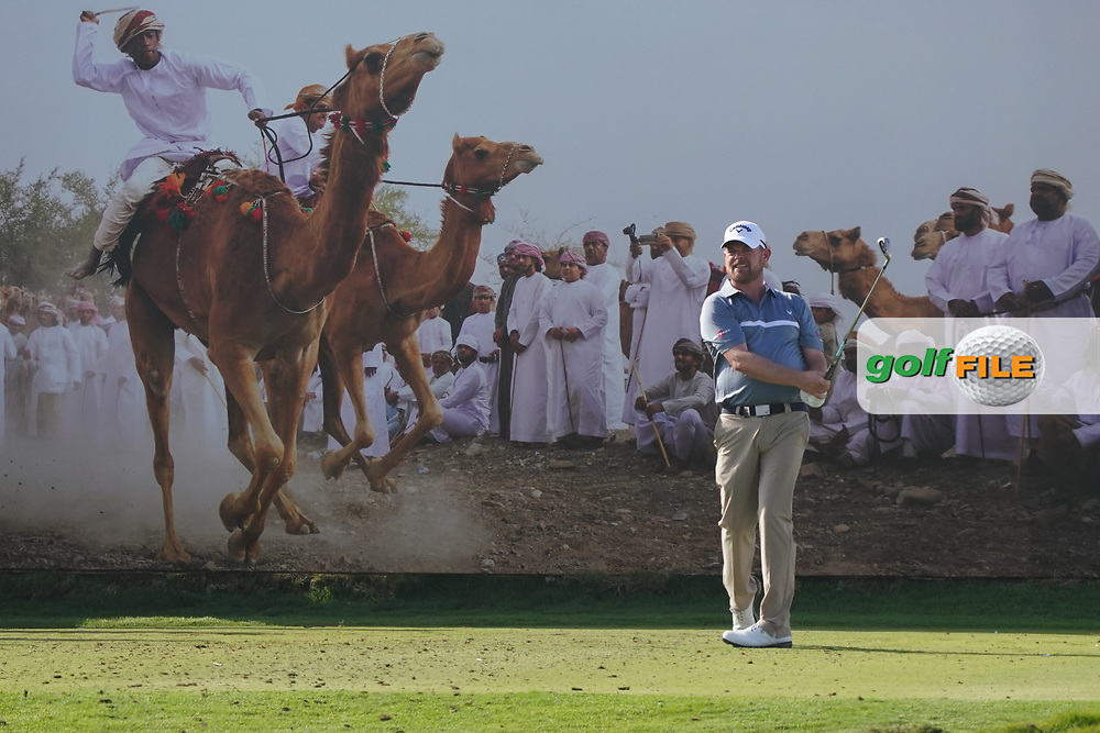 David Drysdale (SCO) on the 8th during Round 2 of the Oman Open 2020 at the Al Mouj Golf Club, Muscat, Oman . 28/02/2020<br /> Picture: Golffile | Thos Caffrey<br /> <br /> <br /> All photo usage must carry mandatory copyright credit (© Golffile | Thos Caffrey)