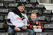 Derby fans during the Sky Bet Championship match between Derby County and Wolverhampton Wanderers at the iPro Stadium, Derby, England on 18 October 2015. Photo by Alan Franklin.