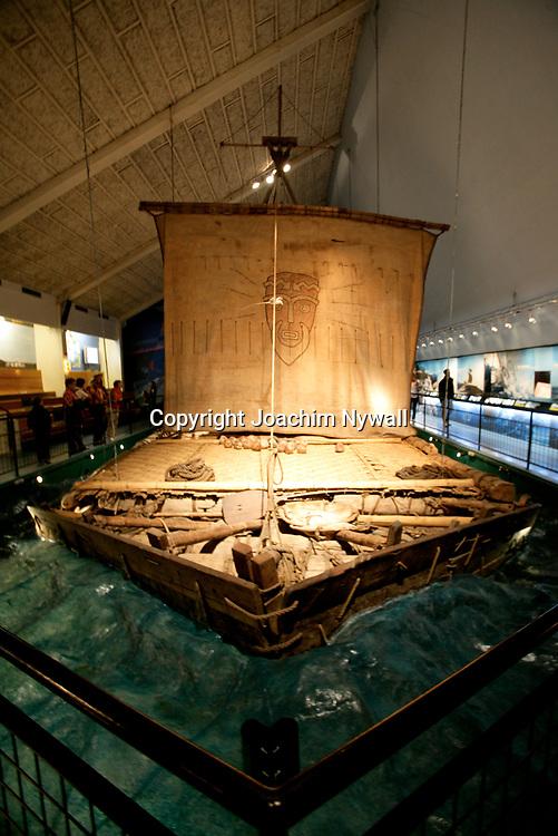Oslo Norge 2006 07<br /> Kon Tiki museet i Oslo<br /> Kon Tiki flotten<br /> <br /> <br /> ----<br /> FOTO : JOACHIM NYWALL KOD 0708840825_1<br /> COPYRIGHT JOACHIM NYWALL<br /> <br /> ***BETALBILD***<br /> Redovisas till <br /> NYWALL MEDIA AB<br /> Strandgatan 30<br /> 461 31 Trollh&auml;ttan<br /> Prislista enl BLF , om inget annat avtalas.