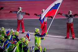 09-02-2018 KOR: Olympic Games day -1, PyeongChang<br /> Openingsceremonie Pyeongchang 2018 Olympic Winter Games / Slovenie, flag bearer Fabian Vesna