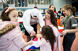 Grega Zemlja of Slovenia with fans after winning during Day 3 of the tennis matches between Slovenia and Monaco of 2017 Davis Cup Europe/Africa Zone Group II, on February 5, 2017 in Tennis Arena Tabor, Maribor Slovenia. Photo by Vid Ponikvar / Sportida