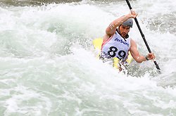 27.06.2015, Verbund Wasserarena, Wien, AUT, ICF, Kanu Wildwasser Weltmeisterschaft 2015, K1 men, im Bild Marcos Gonzalez Diaz (ESP) // during the final run in the men's K1 class of the ICF Wildwater Canoeing Sprint World Championships at the Verbund Wasserarena in Wien, Austria on 2015/06/27. EXPA Pictures © 2014, PhotoCredit: EXPA/ Sebastian Pucher