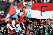 23-10-2016: Voetbal: Feyenoord v Ajax: Rotterdam<br /> <br /> (L-R) Feyenoord speler Dirk Kuyt tijdens het Eredivsie duel tussen Feyenoord en Ajax op 23 oktober in stadion Feijenoord (de Kuip) tijdens speelronde 10<br /> <br /> Eredivisie - Seizoen 2016 / 2017<br /> <br /> Foto: Gertjan Kooij