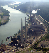 Chris Rolinson<br /> <br /> The Cardinal #2 generation plant at Brilliant, Ohio.<br /> <br /> Aerial photo. 8/29/01