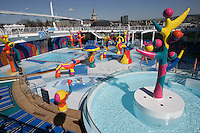 Royal Caribbean International's  Independence of the Seas, the world's largest cruise ship.....H2O zone