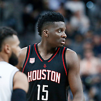 01 May 2017: Houston Rockets center Clint Capela (15) is seen during the Houston Rockets 126-99 victory over the San Antonio Spurs, in game 1 of the Western Conference Semi Finals, at the AT&T Center, San Antonio, Texas, USA.