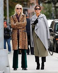 "Cate Blanchett and Sandra Bullock are seen on the set of ""Ocean's 8"".<br /> (NYC)"