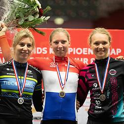 28-12-2019: Wielrennen: NK Baan: Alkmaar <br />Lorena Wiebes, Nina Kessler, Maike van der Duin