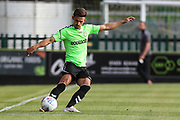 Forest Green Rovers Liam Shephard(2) clears the ball during the Pre-Season Friendly match between Forest Green Rovers and Leeds United at the New Lawn, Forest Green, United Kingdom on 17 July 2018. Picture by Shane Healey.
