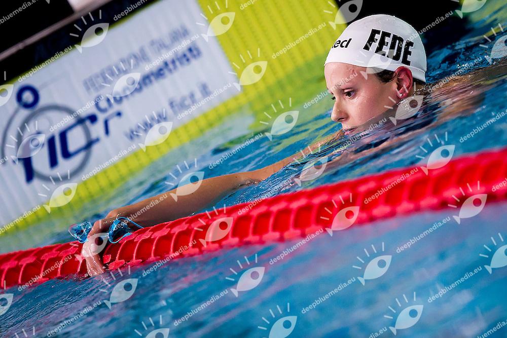 Federica Pellegrini<br /> C.C.Aniene<br /> 200 Stile Libero Batterie<br /> Stadio del Nuoto Riccione<br /> Campionati Italiani Nazionali Assoluti Nuoto Primaverili Fin <br /> Riccione Italy 22-04-2016<br /> Photo &copy; Andrea Masini/Deepbluemedia/Insidefoto