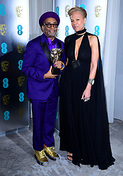 Spike Lee and Tonya Lewis Lee attending the after party for the 72nd British Academy Film Awards at the Grosvenor House Hotel in central London.