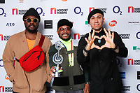Black Eyed Peas pose backstage during the O2 Silver Clef Awards 2019, Grosvenor House, London, UK, Friday 05 July 2019<br /> Photo JM Enternational