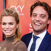 NLD/Amsterdam/20160403 - Premiere musical Sky, Nicolette van Dam en partner Bas Smit