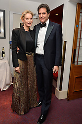 BRENT & GENEVIEVE HOBERMAN at the Ave Maya Ballet gala in memory of Maya Plisetskava held at the English National Opera, St.Martin's Lane, London on 6th March 2016.